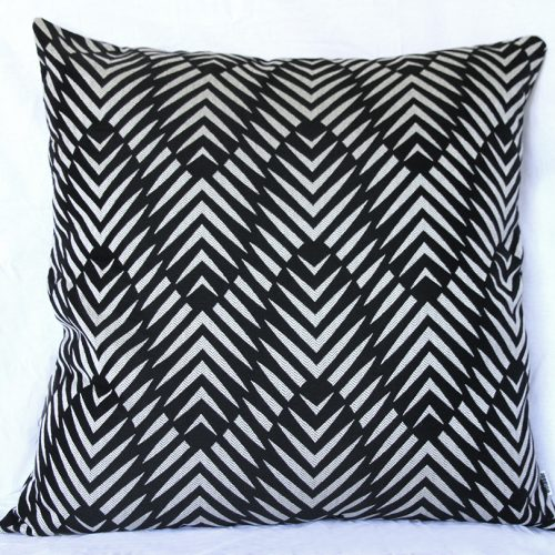 Palm Cove - Black 85x85cm Floor Cushion Sunbrella
