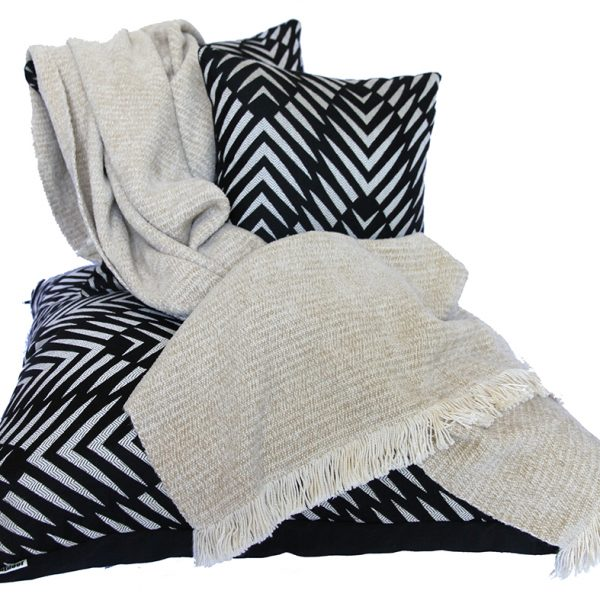 Stone Chenille Two-Tone Throw