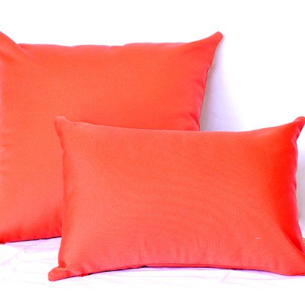 Coral Sunbrella Outdoor Cushions