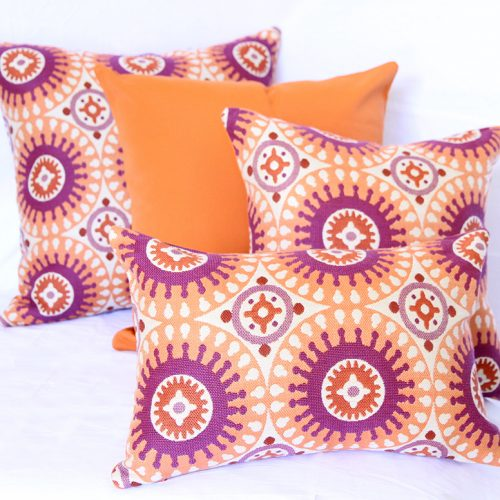 Marrakesh - Orange Sunbrella outdoor cushion