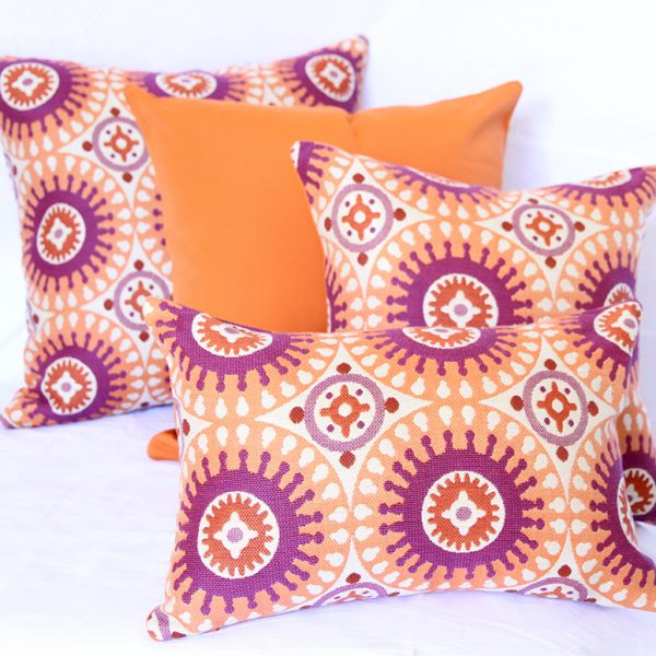 Marrakesh - Orange Sunbrella outdoor cushion
