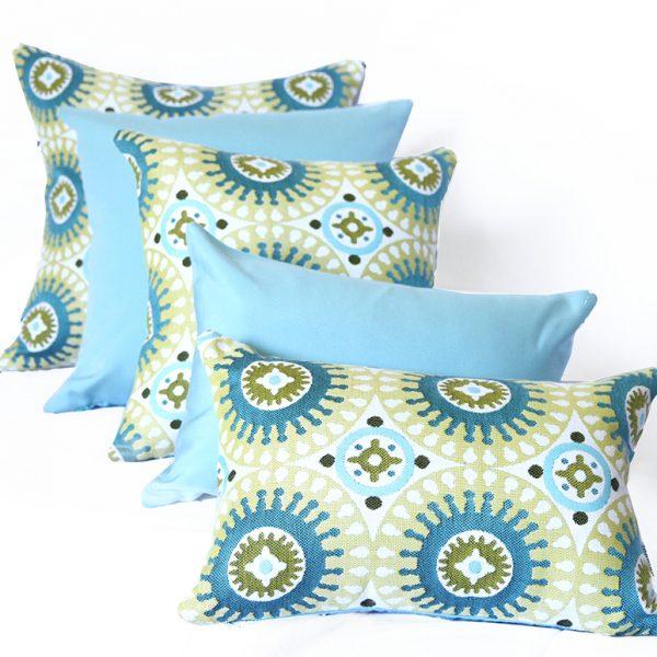 Marrakesh - Green range of Sunbrella outdoor scatter cushions