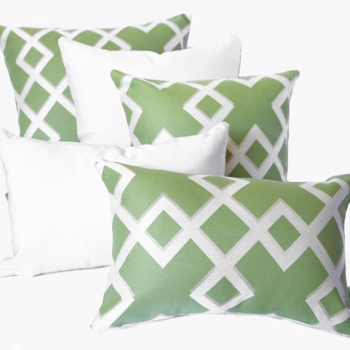 Salamanca - Lime Sunbrella outdoor scatter cushions
