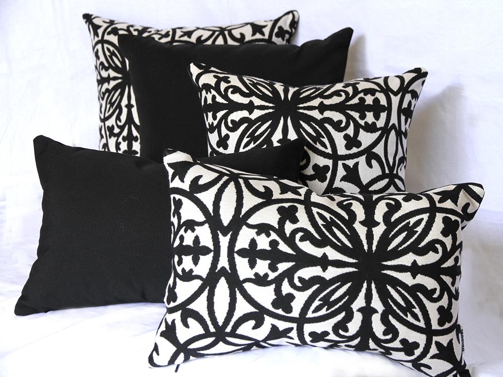 Amalfi - Black and Ivory Amalfi Black Outdoor Scatter Cushion range