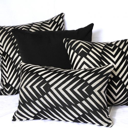 Palm Cove - Black Sunbrella Outdoor Cushions