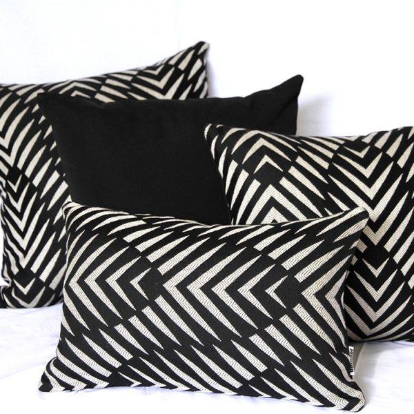 Palm Cove - Black Sunbrella Outdoor Cushions