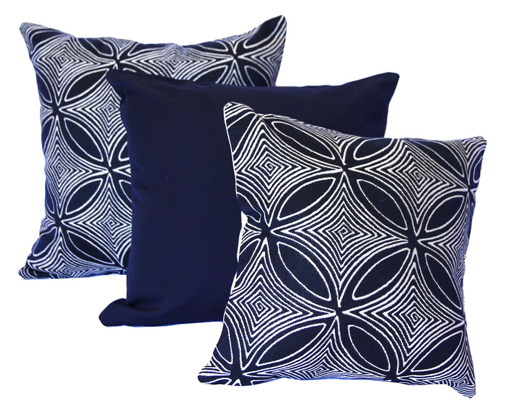 Malibu - Navy Outdoor Cushion