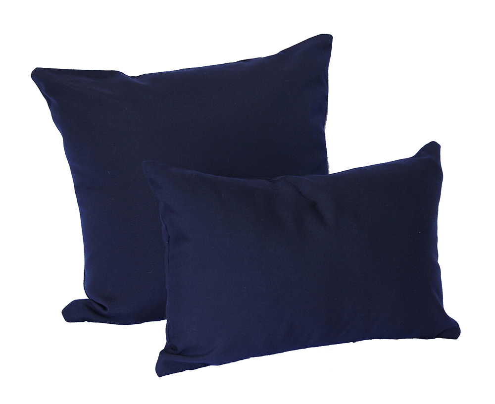 Navy Sunbrella Canvas Outdoor Cushions - Outdoor Interiors Australia