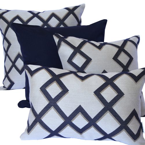 Salamanca - Navy Sunbrella outdoor cushions