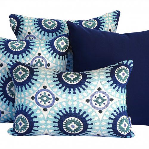 Marrakesh - Blue Sunbrella outdoor cushion