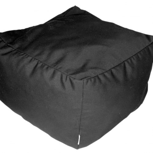 Black Sunbrella ottoman - Outdoor Interiors