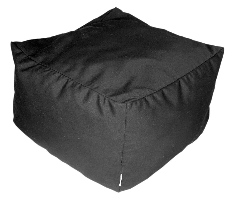 Black Sunbrella ottoman - Outdoor Interiors