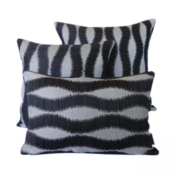 Bora Bora - Black - Outdoor Cushion - Outdoor Interiors Australia