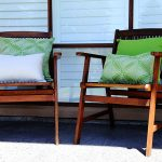 Amalfi Lime Sunbrella outdoor cushions from Outdoor Interiors