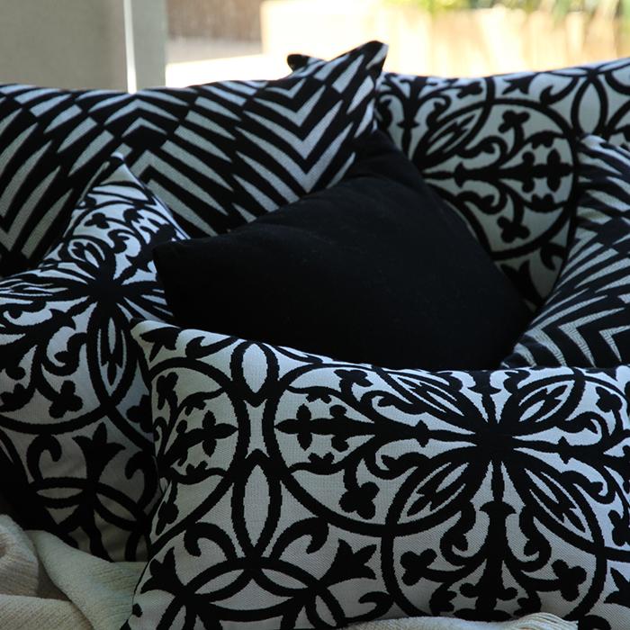 Sunbrella outdoor cushions from Outdoor Interiors - Various Black