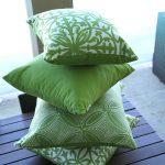 Lime Green Stack Sunbrella outdoor cushions from Outdoor Interiors Outdoor Cushions from Outdoor Interiors