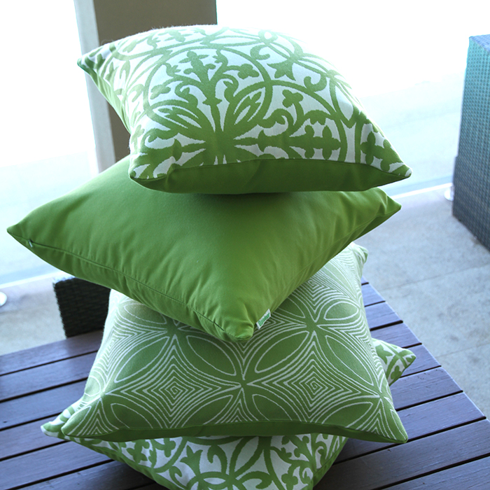 Lime Green Stack Sunbrella outdoor cushions from Outdoor Interiors Outdoor Cushions from Outdoor Interiors