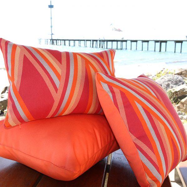 St Tropez Coral Sunbrella outdoor cushions