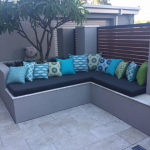 Various Turquoise and Green Sunbrella outdoor scatter cushions from Outdoor Interiors Australia