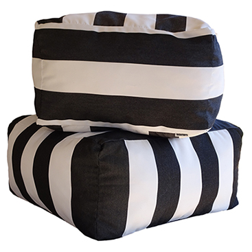 Monte Carlo - Black Ottoman - Outdoor Interiors