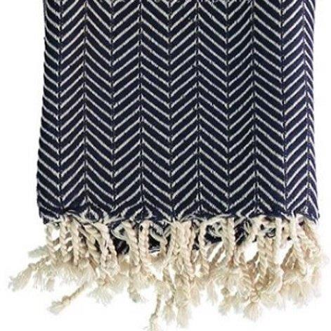 Chevron - Navy Turkish Towel