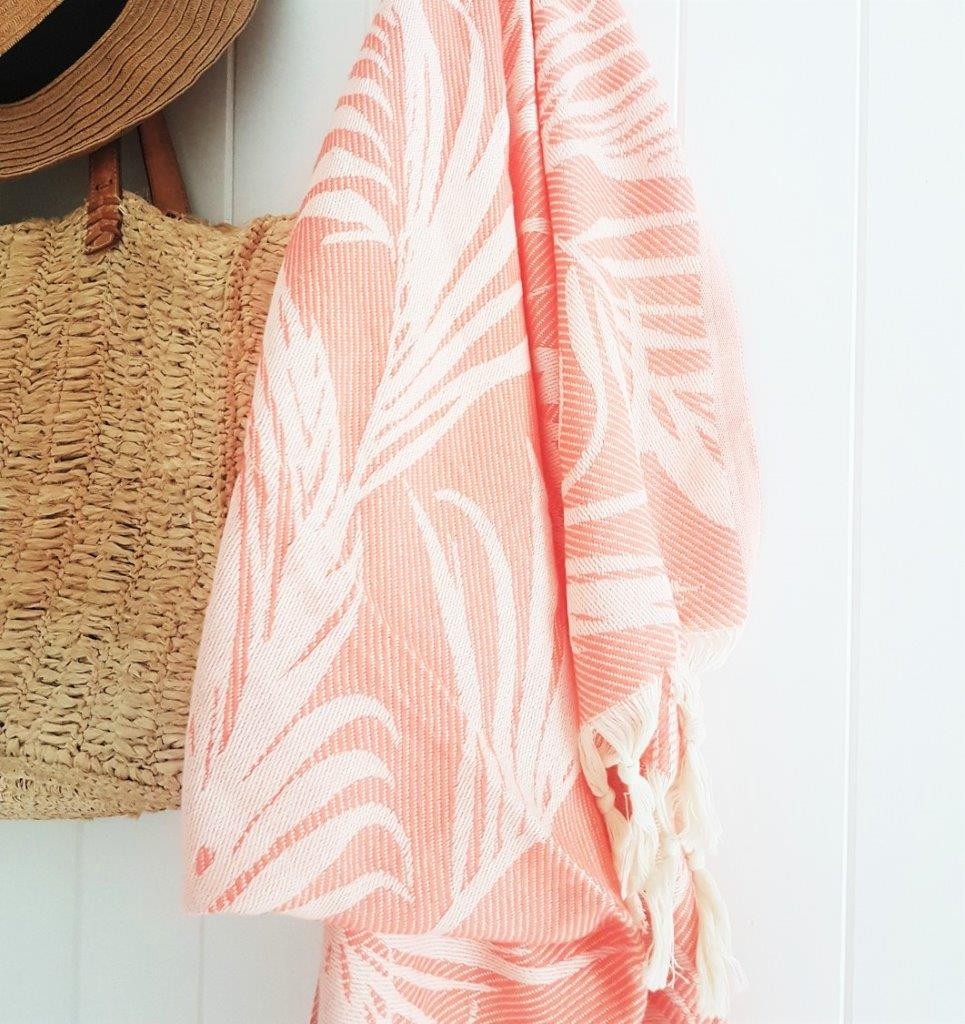 Palm Springs Peach Turkish Towel