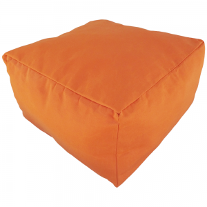 Orange Marine Canvas Ottoman