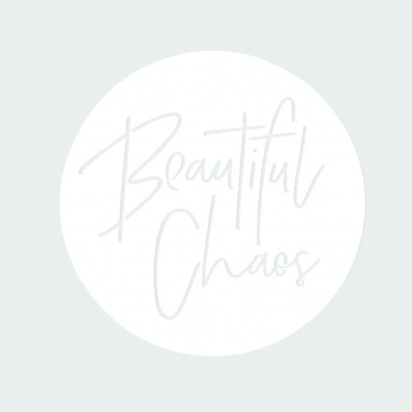 Beautiful Chaos White Outdoor Steel Wall Artwork