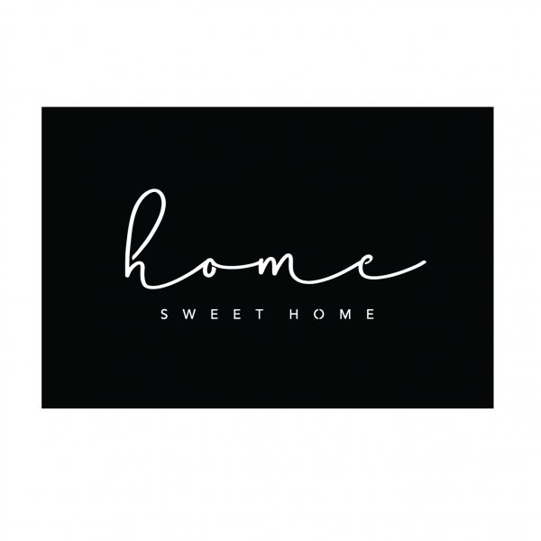 Home sweet home matt black outdoor steel wall artwork