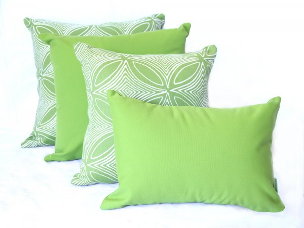 Malibu Lime Sunbrella outdoor cushions from Outdoor Interiors