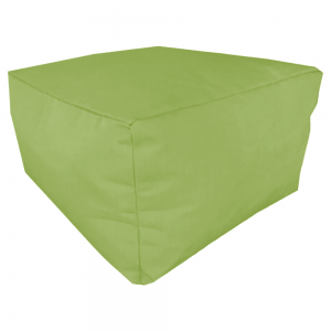 Gingko Green Marine Canvas Ottoman