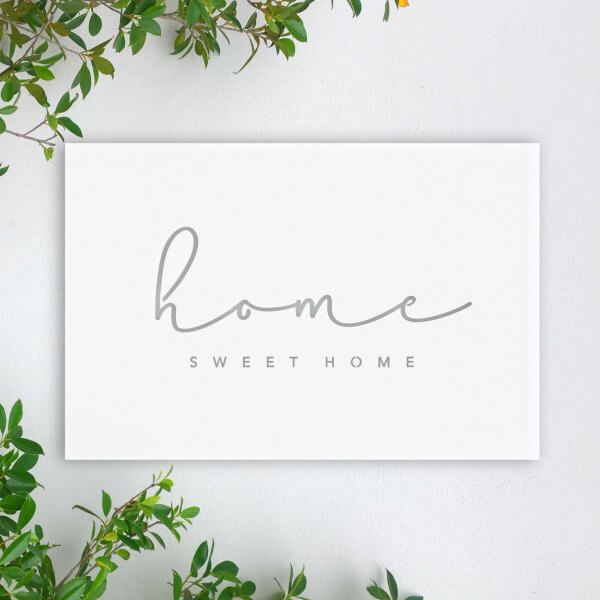 home sweet home outdoor steel wall artwork