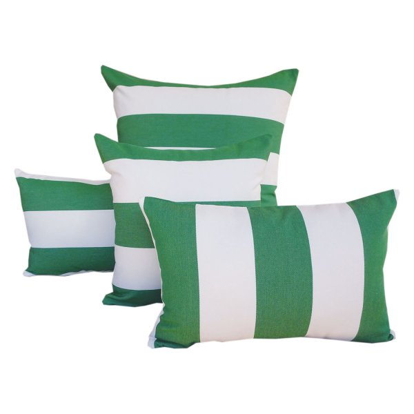 Monte Carlo Green - Sunbrella fade and water resistant outdoor cushions