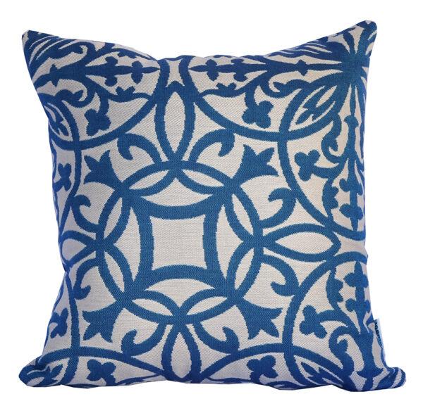 Amalfi Steel Blue Sunbrella outdoor cushion 40cm x 40cm