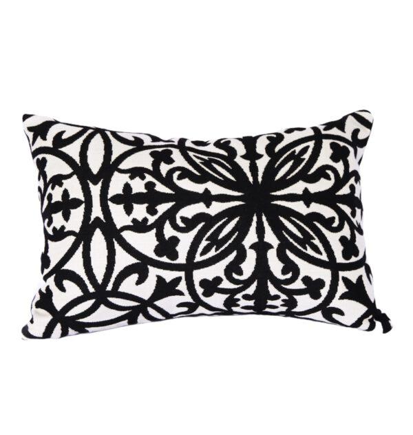 Amalfi - Black - Outdoor Cushion Sunbrella