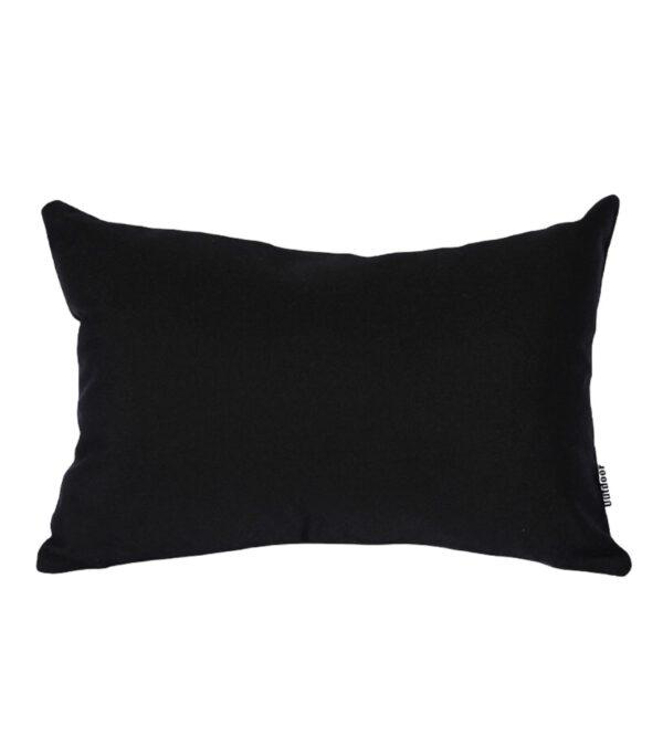 Black Sunbrella Outdoor Cushion 30x45cm