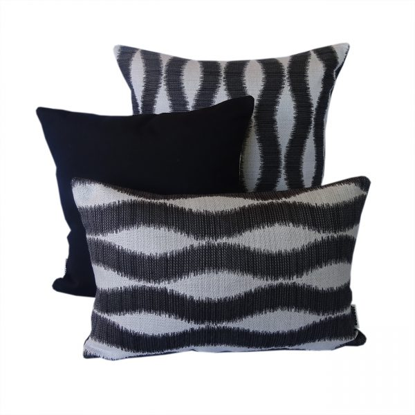 Bora Bora and Black Sunbrella outdoor cushions