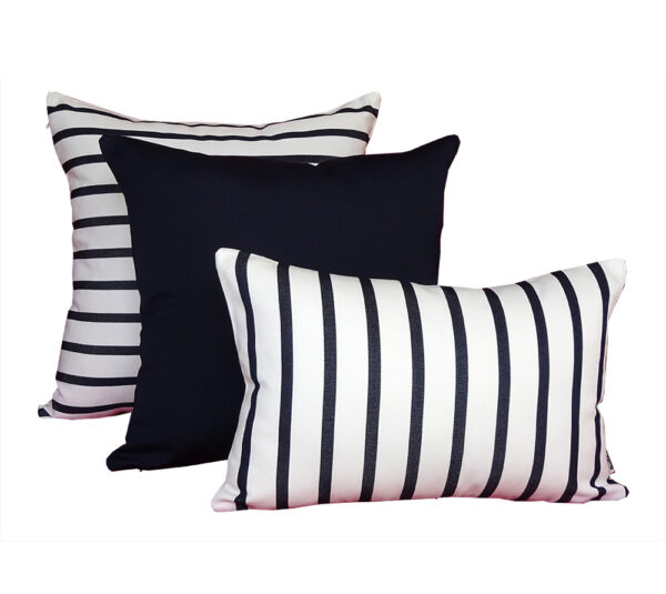 Capri Navy Sunbrella outdoor cushion from Outdoor Interiors
