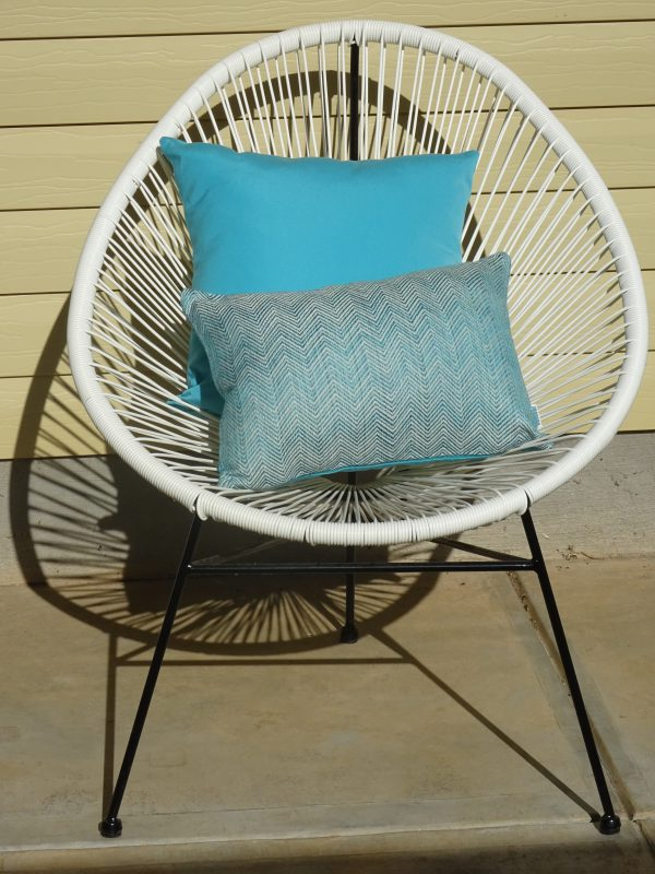 CHEVRON WITH TURQUOISE WHITE ACUPULCO CHAIR