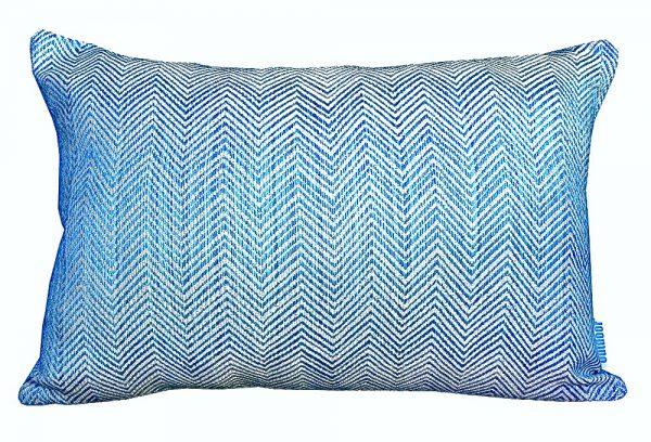 Chevron Turquoise Sunbrella 30x45cm outdoor cushion