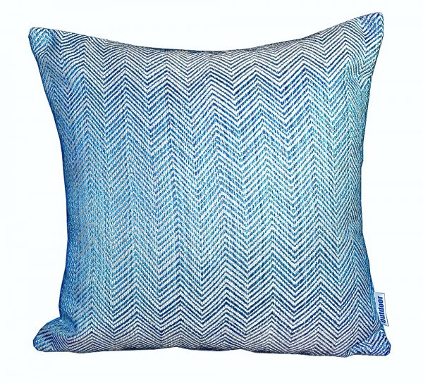 Chevron Turquoise Sunbrella outdoor cushion