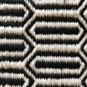 Kalinga – Black – Handwoven P.E.T. Outdoor Rug