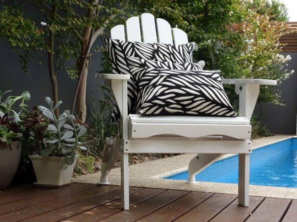 Malawi Black on white andirondack chair
