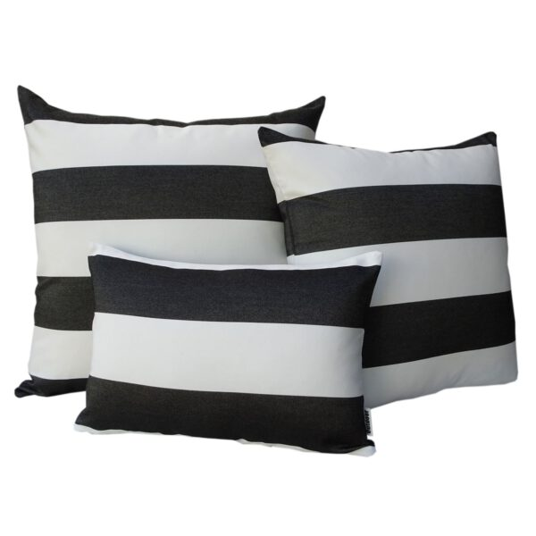 Monte Carlo Black Group Sunbrella outdoor cushions from Outdoor Interiors