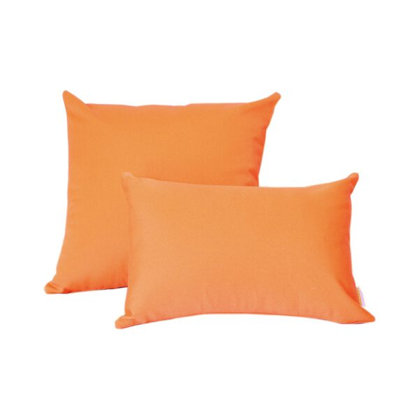 Orange Group Sunbrella fade and water resistant outdoor cushions