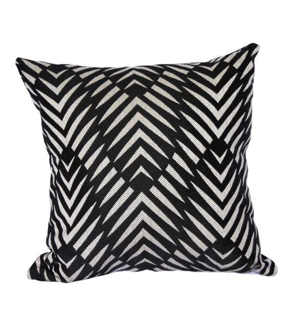 Palm Cove Black Outdoor Cushion Sunbrella