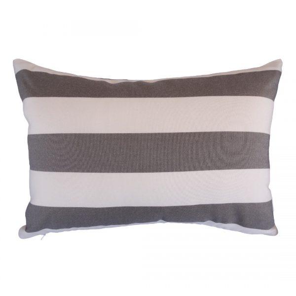 Positano Grey 30x45cm horizontal Sunbrella outdoor cushion