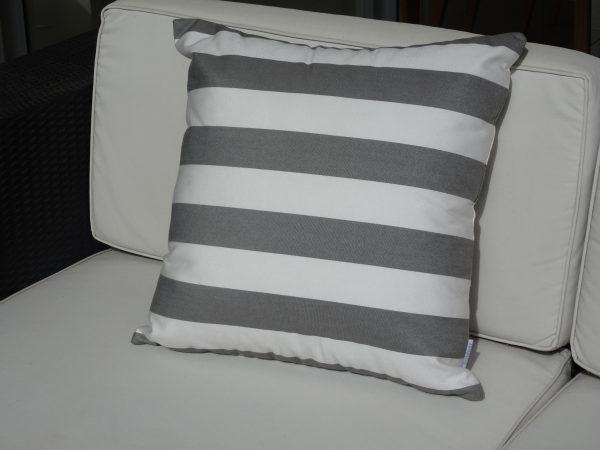 Positano Grey 50x50cm on couch
