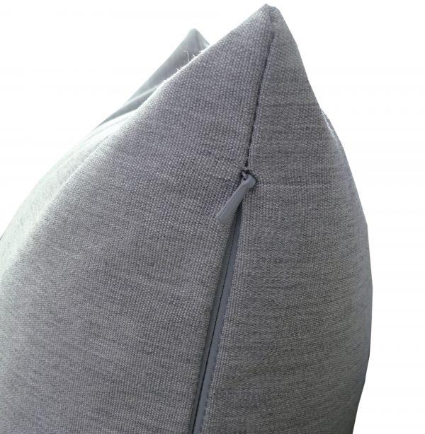 Silver Grey Zip view Sunbrella outdoor cushion