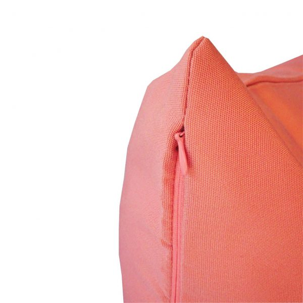 Salmon Sunbrella outdoor cushion zip view
